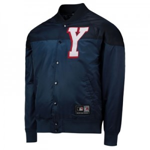 New York Yankees Satin Jacket - Navy - Mens