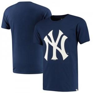 New York Yankees Prism T-Shirt - Navy - Mens