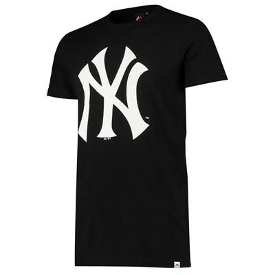 New York Yankees Prism Longline T-Shirt - Black - Mens