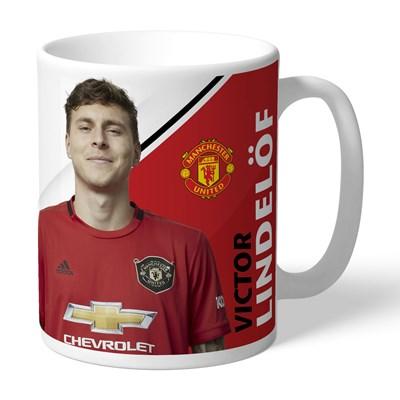 Manchester United Personalised Signature Mug - Lindelof