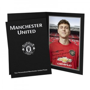 Manchester United Personalised Signature Photo In Presentation Folder - Lindelof