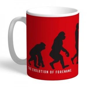 Manchester United Personalised Evolution Mug