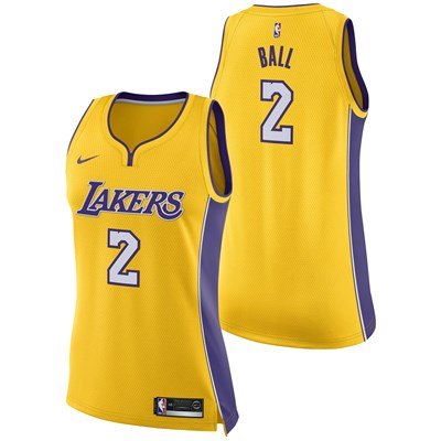 Los Angeles Lakers Nike Association Swingman Jersey - Lonzo Ball - Womens