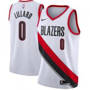 Nike Portland Trail Blazers Nike Association Swingman Jersey - Damian Lillard - Mens Portland Trail Blazers Nike Association Swingman Jersey - Damian Lillard - Mens