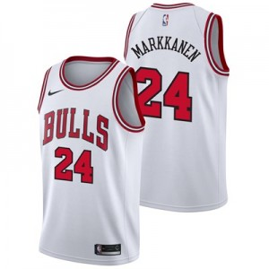 Nike Chicago Bulls Nike Association Swingman Jersey - Lauri Markkanen - Mens Chicago Bulls Nike Association Swingman Jersey - Lauri Markkanen - Mens