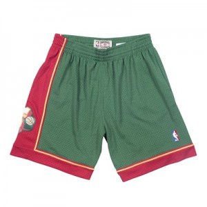 Seattle Supersonics Hardwood Classics 1995-96 Road Swingman Short - Mens