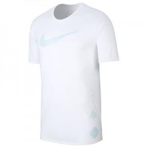 Nike Dri-Fit T-Shirt Golden Swoosh - White/ White - Mens
