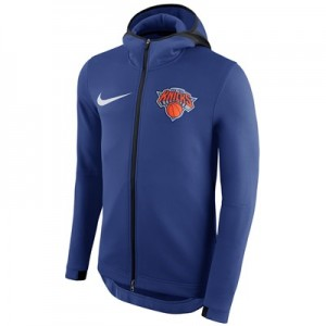 New York Knicks Nike Therma Flex Showtime Jacket - Rush Blue - Mens