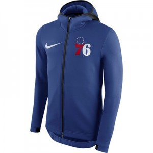 Philadelphia 76ers Nike Therma Flex Showtime Jacket - Rush Blue - Mens