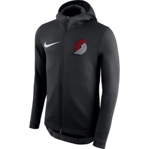 Portland Trail Blazers Nike Therma Flex Showtime Jacket - Black - Mens