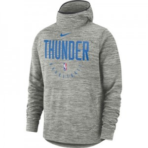 Oklahoma City Thunder Nike Spotlight Hoodie - Carbon Heather - Mens
