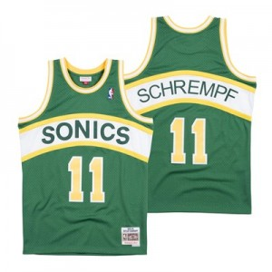 Seattle Supersonics Detlef Schrempf Hardwood Classics Road Swingman Jersey - Mens