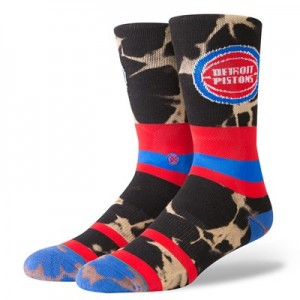 Detroit Pistons Stance Acid Wash Sock - Mens