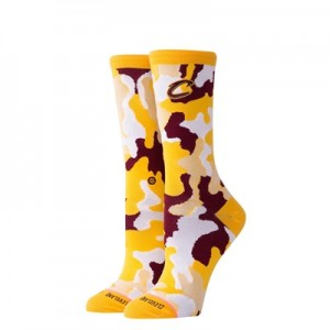 Cleveland Cavaliers Stance Camo Crew Sock - Womens
