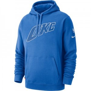 Oklahoma City Thunder Nike City Edition Courtside Hoodie - Mens