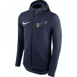 Utah Jazz Nike Therma Flex Showtime Jacket - College Navy - Mens