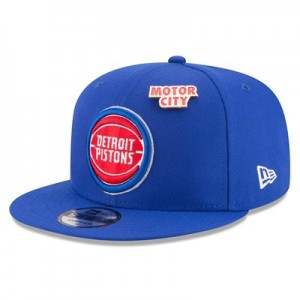 Detroit Pistons New Era Official Draft 9FIFTY Snapback Cap - Mens