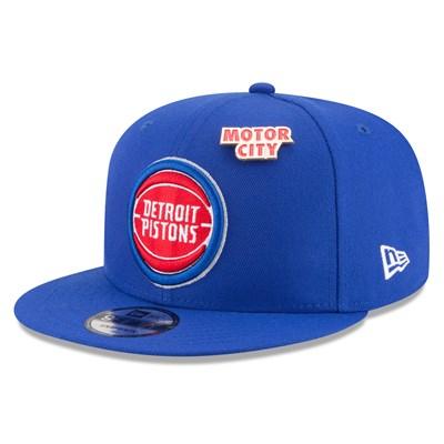 Detroit Pistons New Era Official Draft 9FIFTY Snapback Cap - Mens