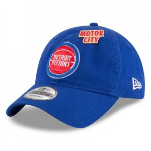 Detroit Pistons New Era Official Draft 9TWENTY Adjustable Cap - Mens