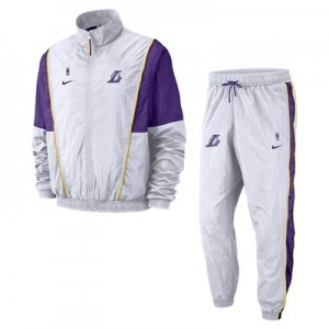 Los Angeles Lakers Nike Courtside Tracksuit - White - Mens