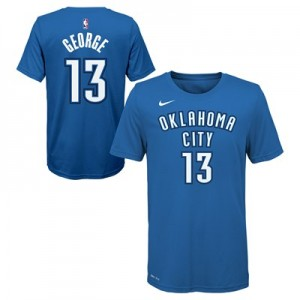 Oklahoma City Thunder Nike Paul George Icon Name & Number T-Shirt - Youth
