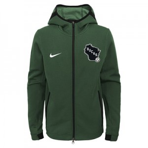 Milwaukee Bucks Milwaukee Bucks Nike Thermaflex Showtime Jacket - Youth