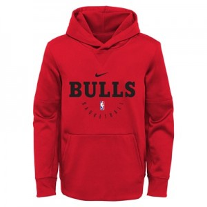 Chicago Bulls Nike Elite Practise Spotlight Fleece Hoodie - Youth
