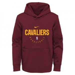 Cleveland Cavaliers Nike Elite Practise Spotlight Fleece Hoodie - Youth