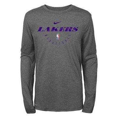 Los Angeles Lakers Nike Elite Practise Long Sleeve Top - Youth