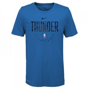 Oklahoma City Thunder Nike Elite Practise Short Sleeve Top - Youth