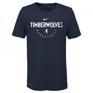 Minnesota Timberwolves Nike Elite Practise Short Sleeve Top - Youth