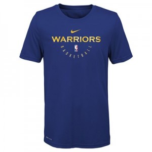 Golden State Warriors Nike Elite Practise Short Sleeve Top - Youth
