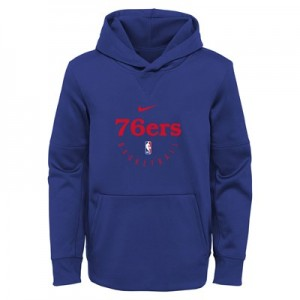 Philadelphia 76ers Nike Elite Practise Spotlight Fleece Hoodie - Youth