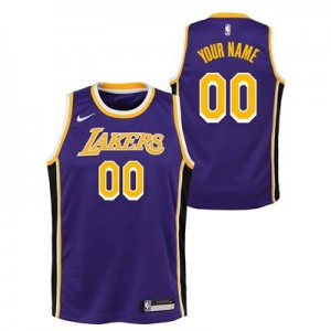 Los Angeles Lakers Nike Statement Swingman Jersey - Custom - Youth