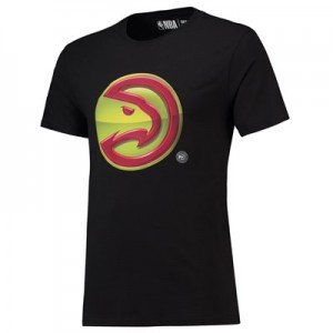 Atlanta Hawks Midnight Mascot Core T-Shirt - Black - Mens