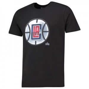 LA Clippers Midnight Mascot Core T-Shirt - Black - Mens