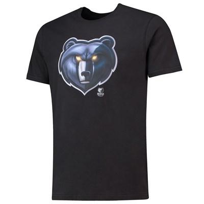 Memphis Grizzlies Midnight Mascot Core T-Shirt - Black - Mens