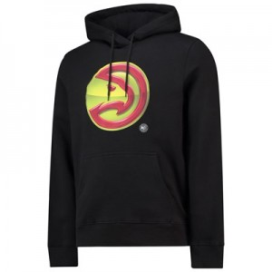 Atlanta Hawks Midnight Mascot Core Hoodie - Black - Mens