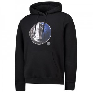 Dallas Mavericks Midnight Mascot Core Hoodie - Black - Mens