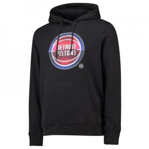 Detroit Pistons Midnight Mascot Core Hoodie - Black - Mens