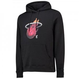 Miami Heat Midnight Mascot Core Hoodie - Black - Mens