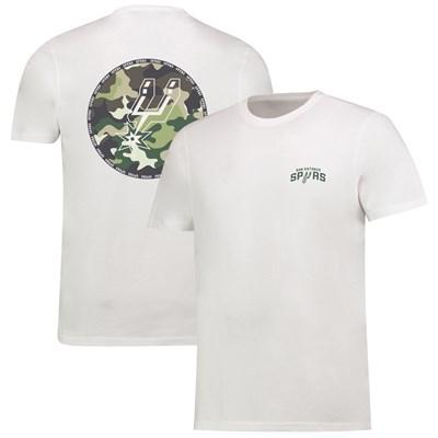 San Antonio Spurs Camo Team Logo Core T-Shirt - White - Mens