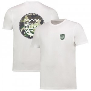 Sacramento Kings Camo Team Logo Core T-Shirt - White - Mens