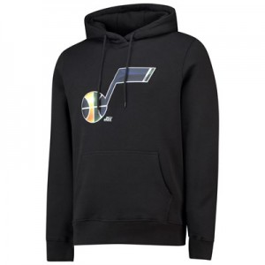 Utah Jazz Midnight Mascot Core Hoodie - Black - Mens
