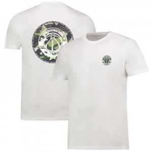 Washington Wizards Camo Team Logo Core T-Shirt - White - Mens