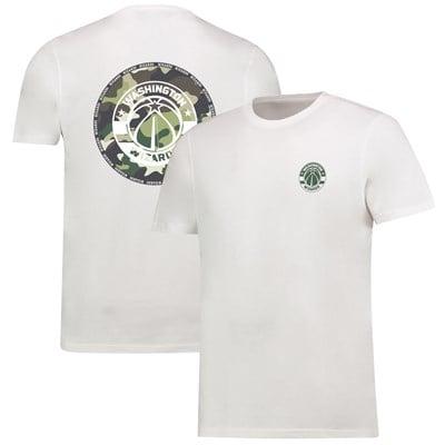 Washington Wizards Camo Team Logo Core T-Shirt - White - Mens