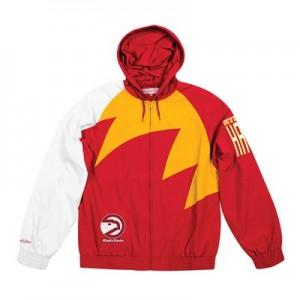 Atlanta Hawks Sharktooth Jacket By Mitchell & Ness - Mens