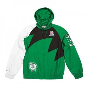 Boston Celtics Sharktooth Jacket By Mitchell & Ness - Mens