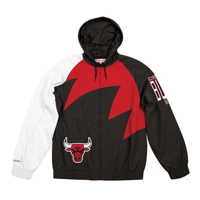 Chicago Bulls Sharktooth Jacket By Mitchell & Ness - Mens