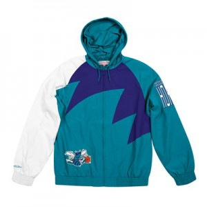 Charlotte Hornets Sharktooth Jacket By Mitchell & Ness - Mens